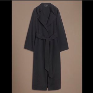 Black 100% silk trench coat/robe/dress (Aritzia)